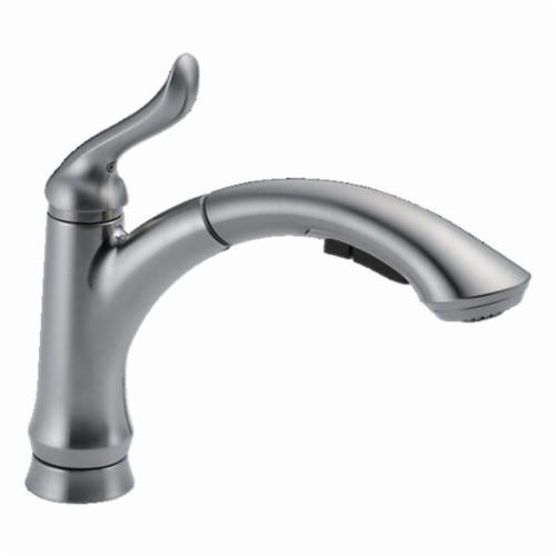 4353-AR-DST Linden Kitchen Faucet, 1.5 gpm, 8 in Center, Arctic Stainless Steel, 1 Handles