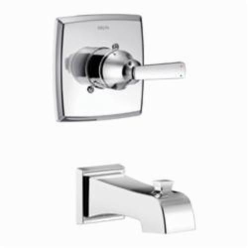 DELTA Monitor 14 Ashlyn Tub Trim, Chrome Plated, 1 Handles, Domestic, Commercial