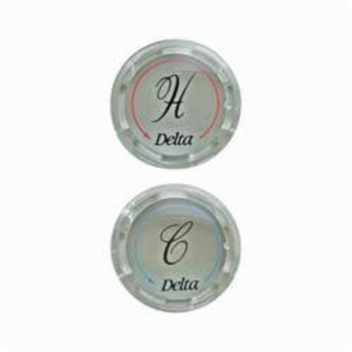 DELTA RP19659 Replacement Two Button Set, For Use With (2) Clear Kitchen Faucet Handle, Plastic, Chrome Plated