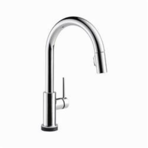 DELTA 9159T-DST Trinsic Kitchen Faucet, 1.8 gpm, 8 in, Commercial, 1 Handles, (6) AA Battery