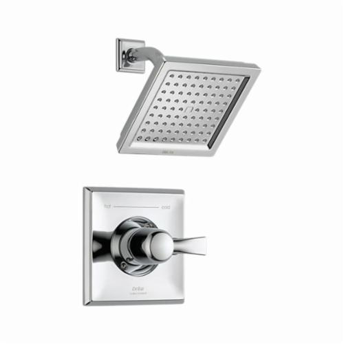 DELTA Monitor 14 Dryden Shower Trim, 2.5 gpm, 1 Lever Handles, Chrome Plated, Commercial