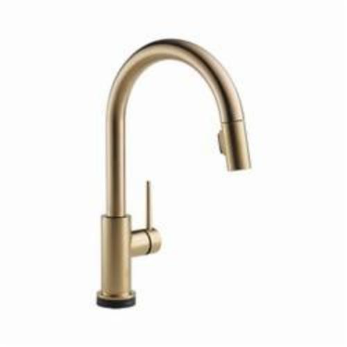 DELTA 9159T-CZ-DST Trinsic Kitchen Faucet, 1.8 gpm, 8 in, Commercial, 1 Handles, (6) AA Battery
