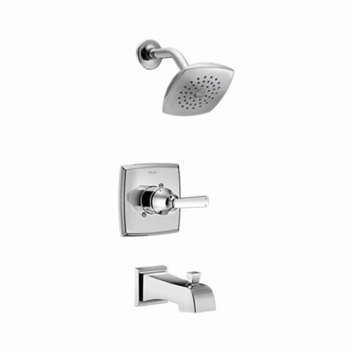 DELTA Monitor 14 Ashlyn Tub and Shower Trim, 2 gpm, Chrome Plated, 1 Handles, Pull-Up Diverter Spout