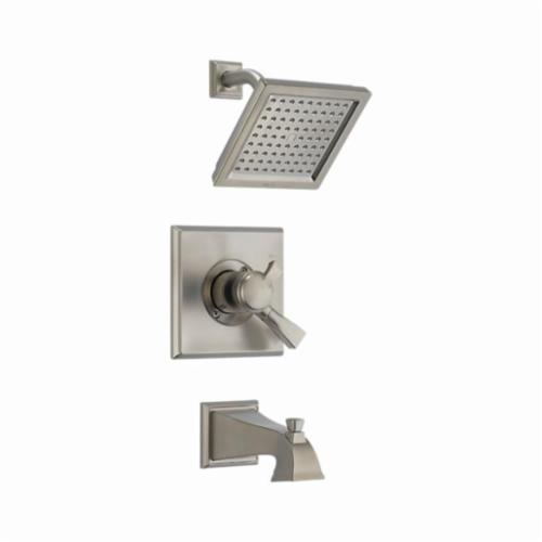 DELTA Monitor 17 Dryden Tub and Shower Trim, 2.5 gpm, Stainless Steel, 1 Handles, Pull-Up Diverter Spout