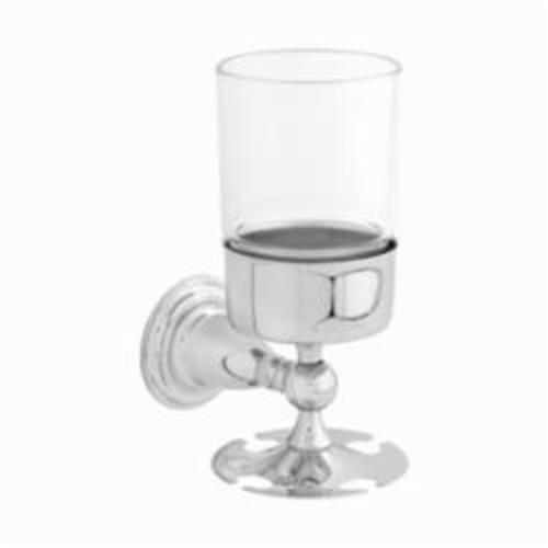 DELTA 75056 Victorian Toothbrush/Tumbler Holder, 6-1/4 in H, Zinc, Chrome Plated, Import
