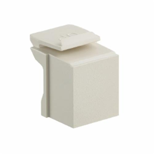 QuickPort 41084-0BI Blank Insert, Snap-In Module, Flush/Surface Mount, Plastic, Ivory