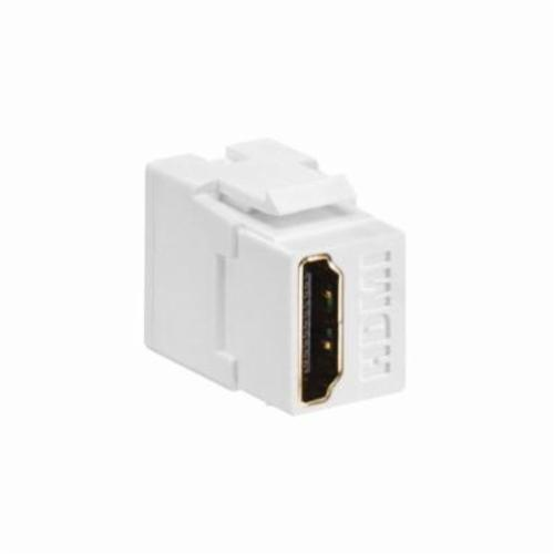 Decora 40834-W Feed-Through HDMI Connector, Snap-In/Female to Female Connector