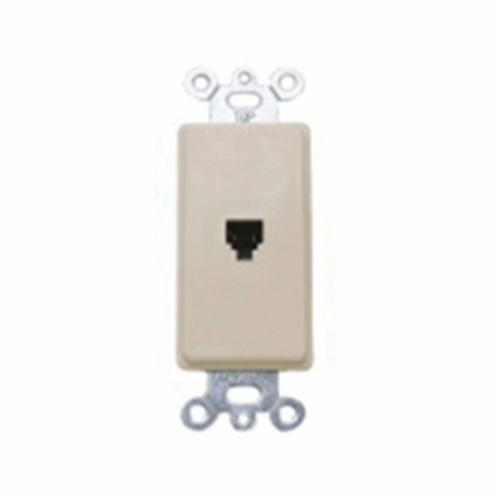 Leviton 40649-I Modular Wall Jack, Screw Connection, Box Mount