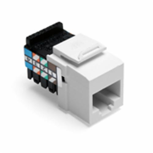 QuickPort 41108-RW8 Quickport Connector, USOC Voice Module, Flush Mount, 1 Port, Plastic, White
