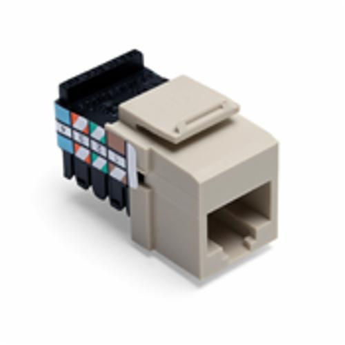 QuickPort 41108-RI8 Quickport Connector, USOC Voice Module, Flush Mount, 1 Port, Plastic, Ivory