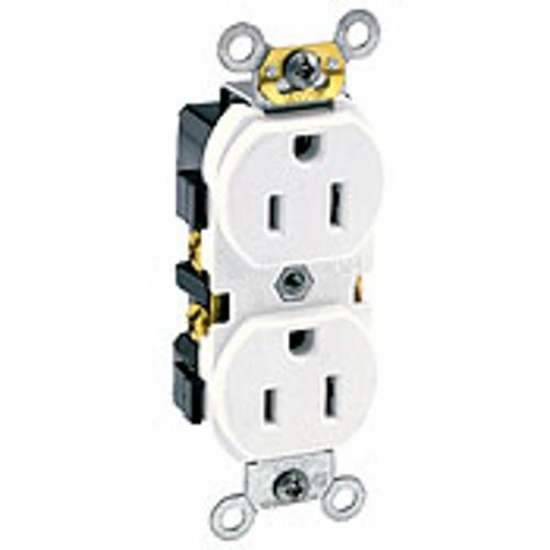 Products   Leviton 5242-W Straight Blade Duplex Receptacle
