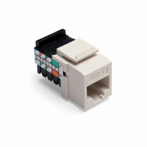QuickPort 41108-RT5 Quickport Connector, Cat5 Module, Flush Mount, 1 Port, Plastic, Light Almond