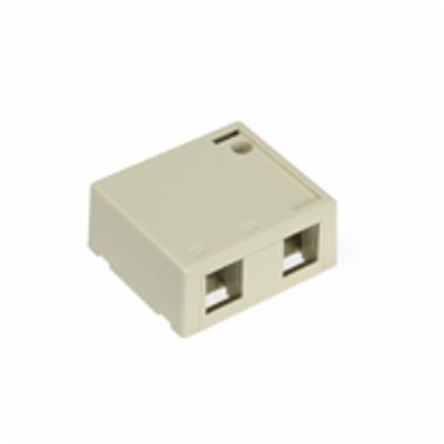 QuickPort 41089-2IP 2-Port Outlet Box, Snap-In Module, For Use With Individual QuickPort Snap-In Connector Modules