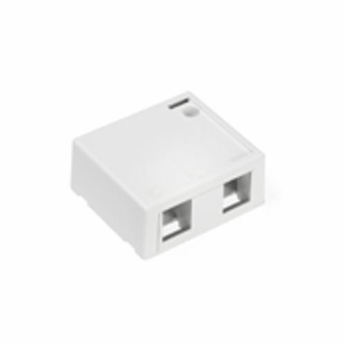 QuickPort 41089-2WP 2-Port Outlet Box, Snap-In Module, For Use With Individual QuickPort Snap-In Connector Modules