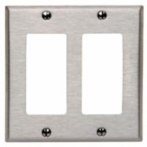 Products Leviton 84409 40 Standard Combination Wallplate 2 Gangs