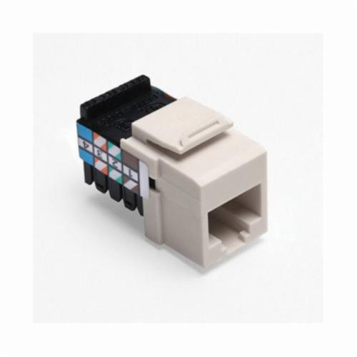QuickPort 41108-RT8 Quickport Connector, USOC Voice Module, Flush Mount, 1 Port, Plastic, Light Almond