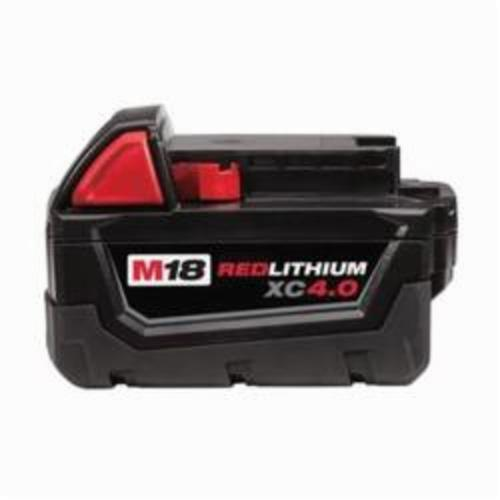 Milwaukee M18 Rechargeable Cordless Battery Pack, 4 Ah Li-Ion Battery, 18 VDC