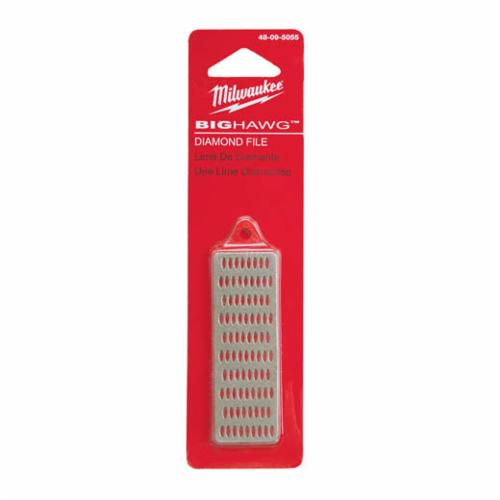 Milwaukee BIG HAWG Diamond File, #1 Bit Dia, For Use With 1/2 in D-Handle and Larger Drills, Diamond