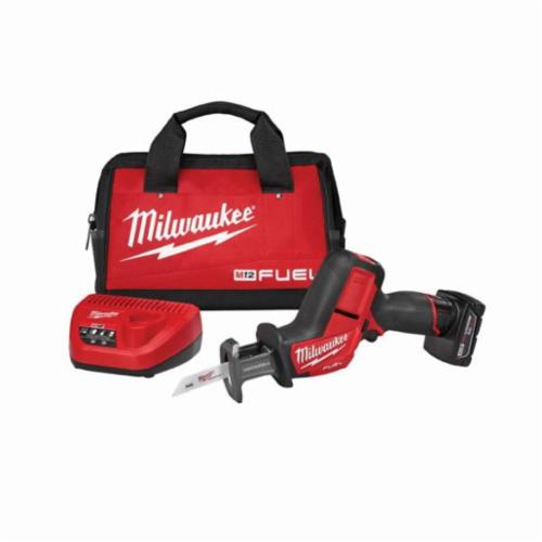Milwaukee M12 FUEL HACKZALL Cordless Reciprocating Saw Kit, 5/8 in, 3000 spm, Straight, 12 V