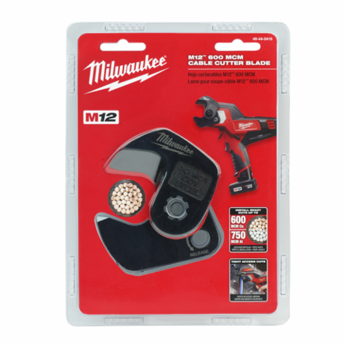 Milwaukee M12 Cable Cutter Blade, For Use With 2472 600 kcmil Cable Cutter, Hardened Steel