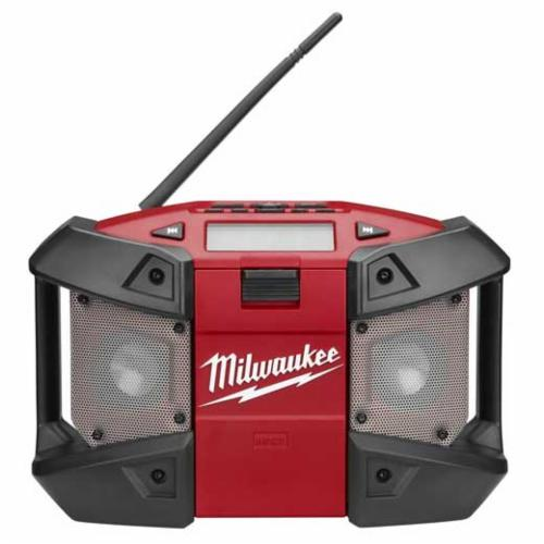 Milwaukee M12 Cordless Radio, 12 V, Lithium-Ion Battery, Polymer/Steel Housing