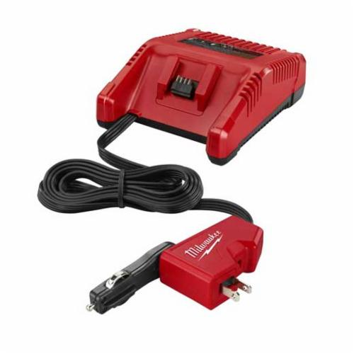 Milwaukee M18 AC/DC Wall and Vehicle Charger, Suitable For Use With REDLITHIUM and Lithium-Ion Batteries, 3 Ah