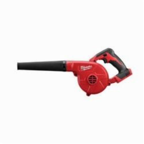 Milwaukee M18 Compact Blower, 100 cfm, 160 MPH, 18 V, Li-Ion Battery, Polymer Body, Soft Plastic Nozzle Housing (Bare Tool)