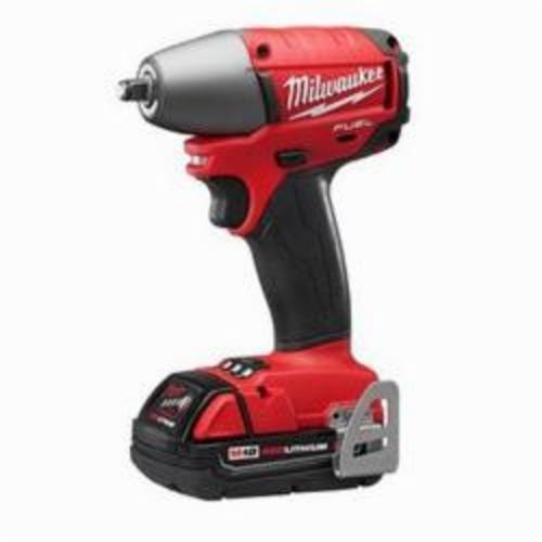 Milwaukee M18 FUEL Compact Cordless Impact Wrench Kit, 3/8 in Straight Drive, 1100 bpm, 2400 bpm, 3100 bpm, 18 VDC