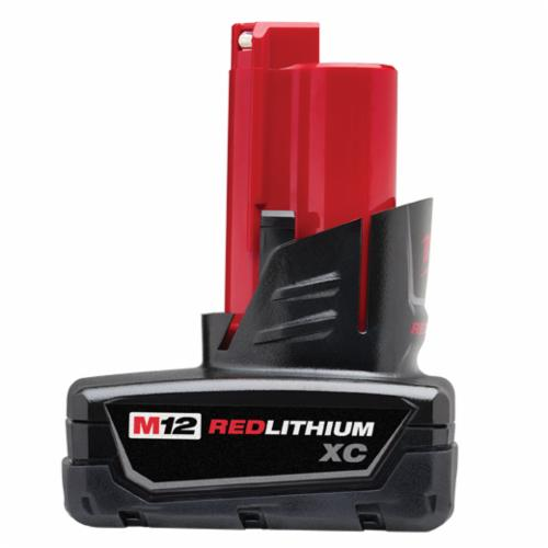 Milwaukee M12 Rechargeable Cordless Battery Pack, 3 Ah Li-Ion Battery, 12 VDC