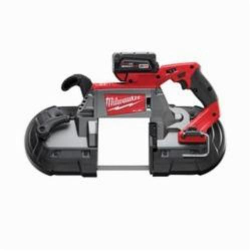 Milwaukee M18 FUEL Cordless Band Saw Kit, 5 in Cutting, 44.875 in L x 0.5 in W x 0.02 in THK Blade, 18 VDC, 5 Ah