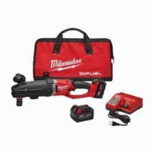 Milwaukee SUPER HAWG M18 FUEL Hex Cordless Right Angle Drill Kit, 7/16 in QUIK-LOK Keyless Chuck, 18 VDC