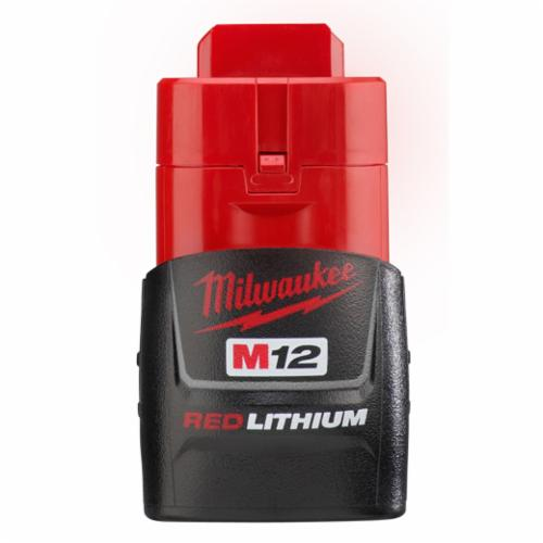 Milwaukee M12 Rechargeable Cordless Battery Pack, 1.5 Ah Li-Ion Battery, 12 VDC