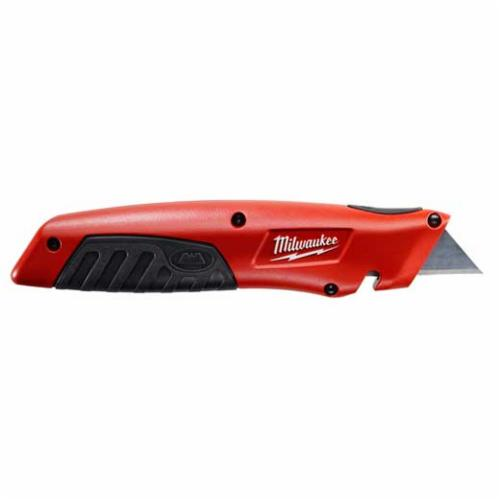Milwaukee 48-22-1910 Sliding Utility Knife, Double Edge Retractable Blade, Carbon Steel Blade, 5 Blades, 7-1/4 in OAL