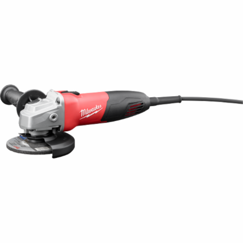 Milwaukee 6130-33 Double Insulated Small Angle Grinder, 4-1/2 in Wheel, 5/8-11 UNC, 120 VAC, Red/Black