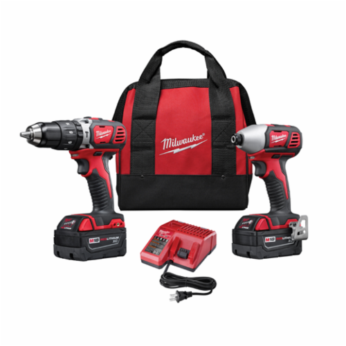 Milwaukee M18 Cordless Combination Kit, 6 Pieces, Red/Black/Gray
