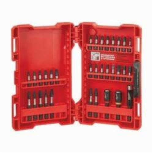 Milwaukee Shockwave 48-32-4004 Impact Driver Bit Set, Imperial, Impact Rated: Yes, 32 Pieces