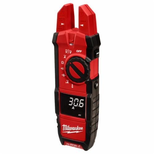 Milwaukee 2206-20 Heavy Duty Digital Fork Meter, 1000 VAC/VDC, 40 MOhm, 50/60 Hz, 5/8 in Jaw