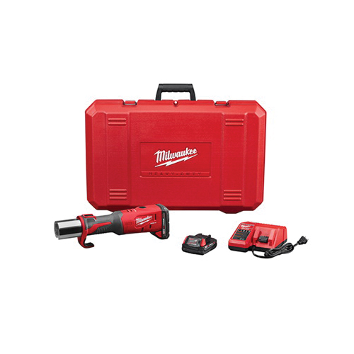 Milwaukee? M18? FORCE LOGIC? Brushless Short Throw Cordless Press Tool, 1/2 to 4 in, 3.7 sec Crimp, 18 V