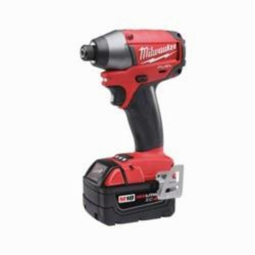 Milwaukee M18 Cordless Impact Driver Kit, 1/4 in Hex Drive, 0 to 3700 ipm, 1800 in-lb Torque, 18 V