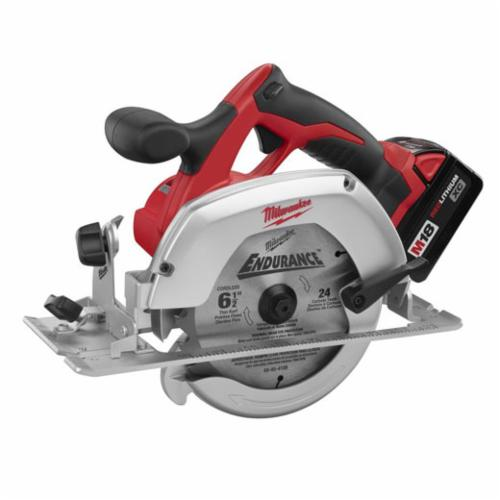 Milwaukee M18 Cordless Circular Saw Kit, 6-1/2 in Dia Blade, 5/8 in, 18 VDC, Lithium-Ion Battery