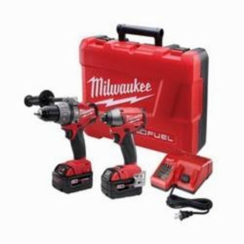 Milwaukee M18 FUEL Cordless Combination Kit, 8 Pieces, Metal, Red/Black