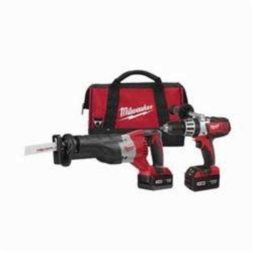 Milwaukee M18 Cordless Combination Kit, 7 Pieces, Red/Black/Gray