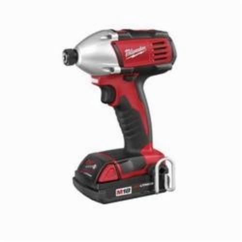 Milwaukee M18 Compact Cordless Impact Driver Kit, 1/4 in Hex Drive, 0 to 3200 ipm, 1400 in-lb Torque, 18 V