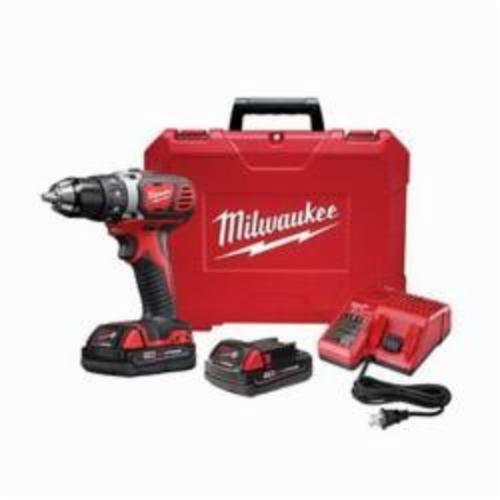 Milwaukee M18 Cordless Drill Driver Kit, 1/2 in Keyless/Metal Single Sleeve Ratcheting Lock Chuck, 500 in-lb Torque