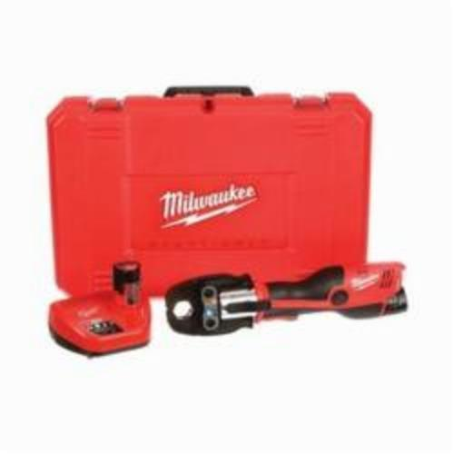 Milwaukee M18 FORCELOGIC Press Tool Kit With Jaws, 1/2 to 1-1/4 in Copper Capacity, 5400 lb Ram Force, 12 VDC