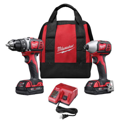 Milwaukee M18 Cordless Combination Kit, 6 Pieces, Red