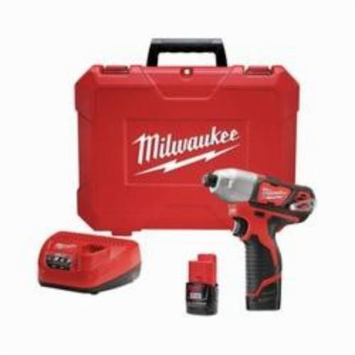 Milwaukee M12 Cordless Impact Driver Kit, 1/4 in Hex Drive, 0 to 3300 ipm, 1000 in-lb Torque, 12 V