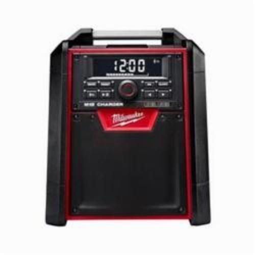 Milwaukee M18 Jobsite Charger Radio, 18 V, 1.5/2/3/4 Ah Li-Ion Battery, 10 Channel, Metal Housing