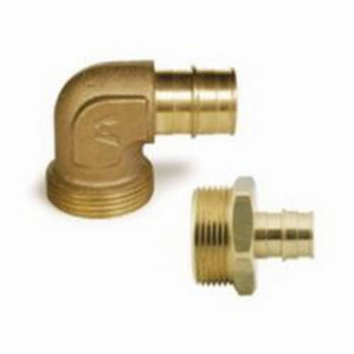 Uponor ProPEX Q4153210 Manifold Elbow Adapter, R32 x 1 in, 125 psi, Brass