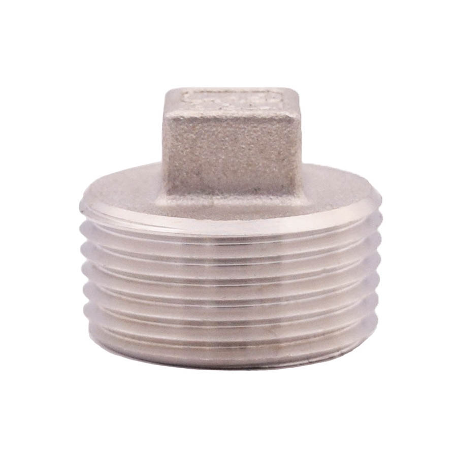 LEGEND 404-185 Square Plug, 1 in, Threaded, 304 Stainless Steel